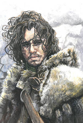 Fire And Ice Painting - Jon Snow by Tyler Auman