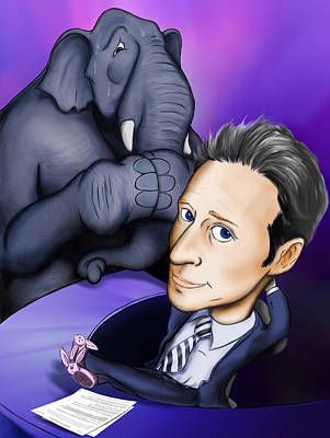Jon Stewart Digital Art - Jon Stewart by Paul Gioacchini