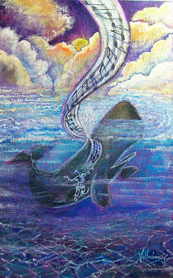 Unusual Religious Painting - Jonah's Turning Point by Maria Valladarez