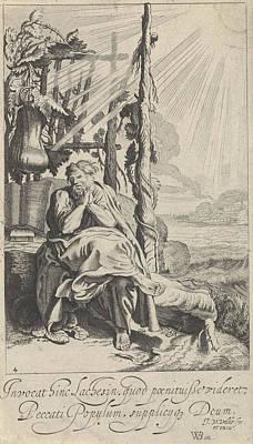 Jonah Drawing - Jonas Under The Miracle Plant, Jan Van De Velde II by Jan Van De Velde (ii)