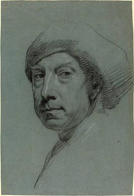 Self-portrait Drawing - Jonathan Richardson by Litz Collection