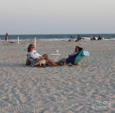 Photograph - Jones Beach Couples by John Telfer