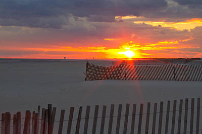 Art Print featuring the photograph Jones Beach Sunset One by Jose Oquendo