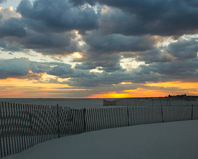 Art Print featuring the photograph Jones Beach Sunset Three by Jose Oquendo