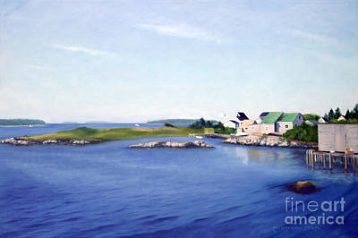 Jonesport Harbor Maine Original by Rosemarie Morelli