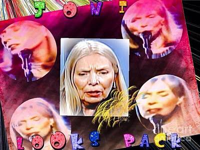 Joni Mitchell Digital Art - Joni Mitchell And Her Younger Days by Caroline Gilmore