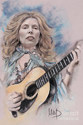 Jazz Drawing - Joni Mitchell by Melanie D