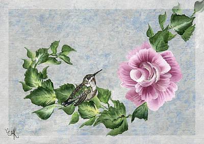 Fantasy Tree Mixed Media - Joni's Flying Jewel by Ella Kaye Dickey