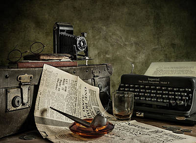 Typewriters Photograph - Jonnie Walker War Correspondent by Nick Walton