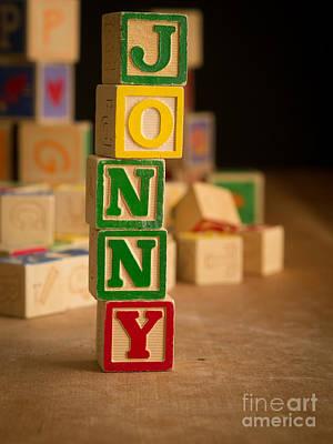 Jonny - Alphabet Blocks Print by Edward Fielding