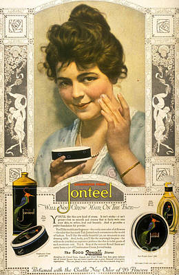 Jonteel 1900s Usa Face Cream Art Print by The Advertising Archives