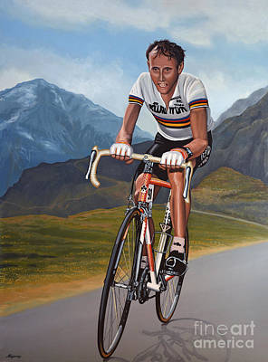 Climbing Painting - Joop Zoetemelk by Paul Meijering