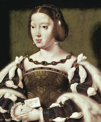 Wood Necklace Photograph - Joos Van Cleve 1485-1541. Queen Eleanor by Everett