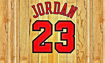 Painting - Jordan 23 Poster by Florian Rodarte