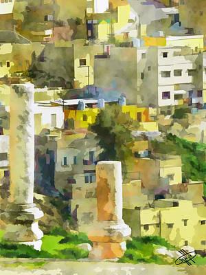River Jordan Digital Art - Jordan/amman/citadel by Fayez Alshrouf