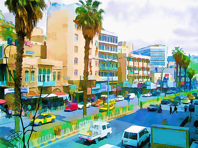 River Jordan Digital Art - Jordan/amman/downtown by Fayez Alshrouf