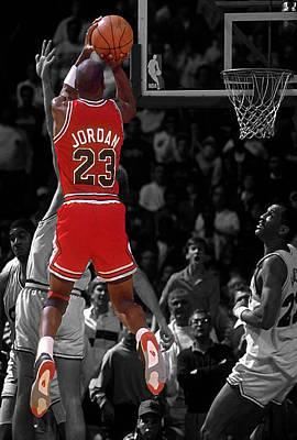 Michael Jordan Photograph - Jordan Buzzer Beater by Brian Reaves