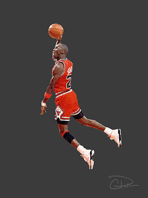 Nike Digital Art - Jordan by Charley Pallos