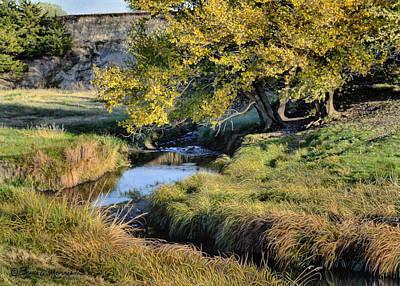 Drawing - Jordan Creek Autumn by Bruce Morrison