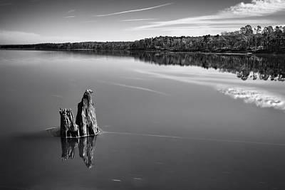 Photograph - Jordan Lake Reflections II by Ben Shields