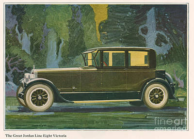 Jordan Line Eight Victoria Car 1925 Print by The Advertising Archives