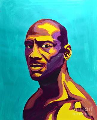 Michael Jordan Portrait Painting - Jordan by LLaura Burge