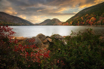 Photograph - Jordan Pond After The Storm by Darylann Leonard Photography