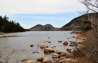 Jordan Pond Bubbles View Acadia Maine Original
