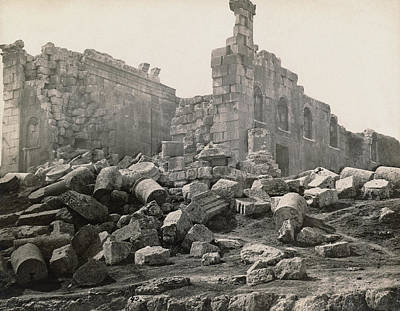 Zeus Photograph - Jordan Roman Ruins by Granger