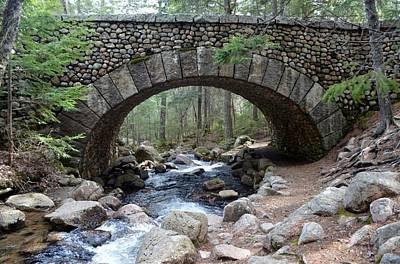 Jordan Stream Acadia Through Carriage Rd Bridge Original by Lena Hatch