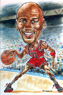 Jordan Painting - Jordan by Tom Hedderich