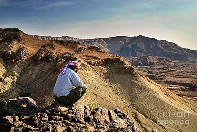 Jordanian Photograph - Jordanian Beduin by Dan Yeger