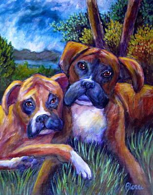 Jordie's Boxers Art Print