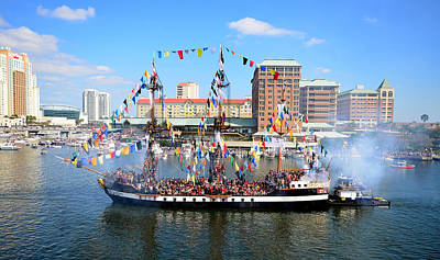 Jose Gasparilla 2013 Art Print by David Lee Thompson