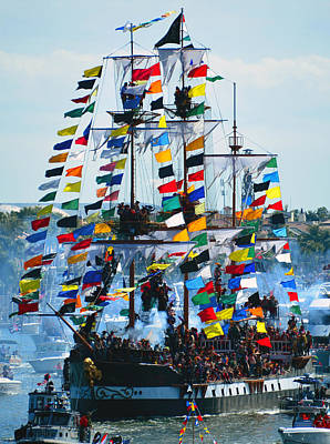 Jose Gasparilla Ship Work B Art Print by David Lee Thompson