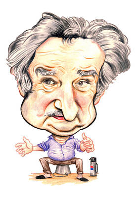 Drawing - Jose Pepe Mujica by Diego Abelenda