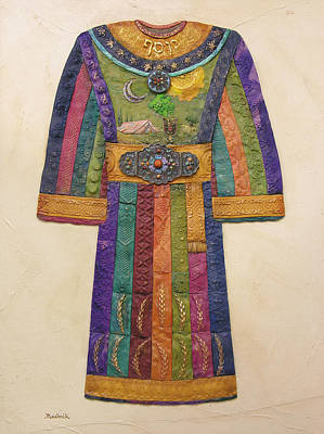 Judaic Painting - Josef's Coat by Michoel Muchnik