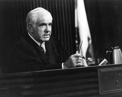 Joseph Photograph - Joseph A. Wapner In The People's Court  by Silver Screen