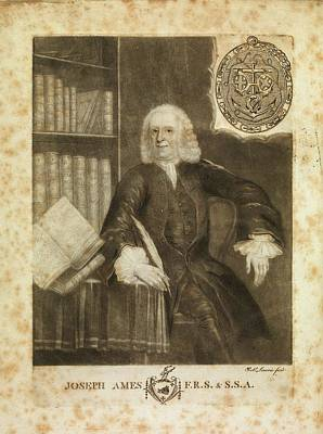 Joseph Photograph - Joseph Ames by Middle Temple Library