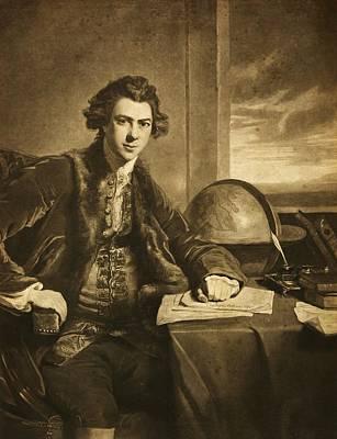 Mezzotint Engraving Photograph - Joseph Banks, English Naturalist by Science Photo Library