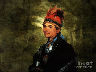 Joseph Brant After Stuart Art Print by Lianne Schneider