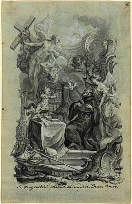 Joseph Christ German, 1732 - 1788, Saint Augustines Zealous Art Print