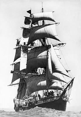 Frigates Photograph - Joseph Conrad Leaves Sydney by Underwood Archives