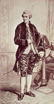 Music Score Drawing - Joseph Haydn  by Edouard Jean Conrad Hamman