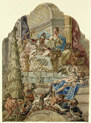 Joseph Hartmann German, 1747 - 1788, Saint Augustine Art Print by Quint Lox