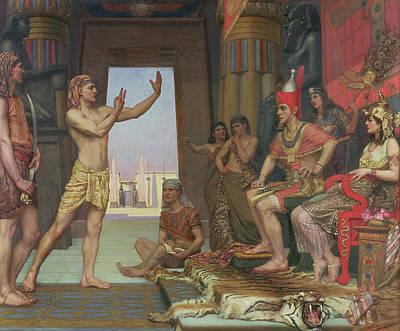 Pharaoh Painting - Joseph Interpreting Pharaohs Dream, 1894 by Reginald Arthur