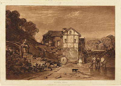 Water Mill Drawing - Joseph Mallord William Turner And Robert Dunkarton British by Quint Lox
