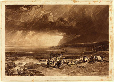 Joseph Mallord William Turner And Thomas Goff Lupton Art Print by Litz Collection