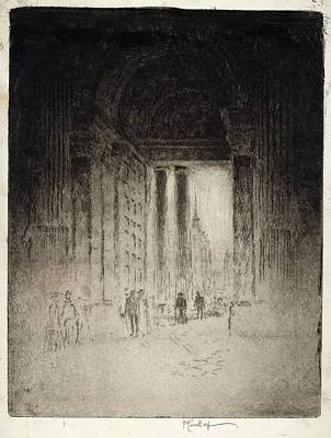St Joseph Drawing - Joseph Pennell, West Door by Quint Lox