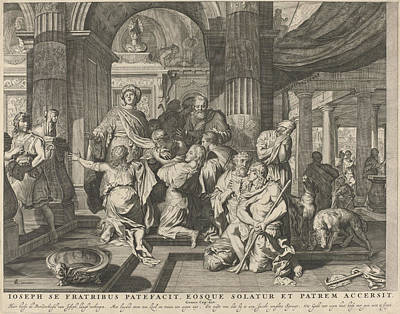 Tear Drawing - Joseph Reveals Himself To His Brothers, Anonymous by Nicolaes Visscher (i) And Nicolaes Visscher (ii)